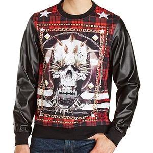 Akademiks Tartan Skull Print Sweatshirt Sz. 5XL